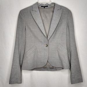 Theory 6 Wool Gray Single Button Blazer Jacket